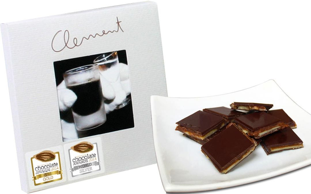 Lüttje Lage Schokolade mit Gold und Silber prämiert - auf Teller angerichtet